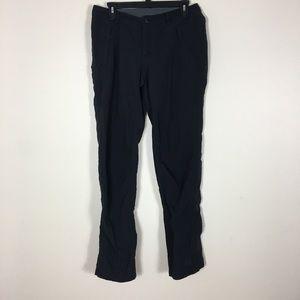 REI Black Straight Leg Nylon Hiking Pants
